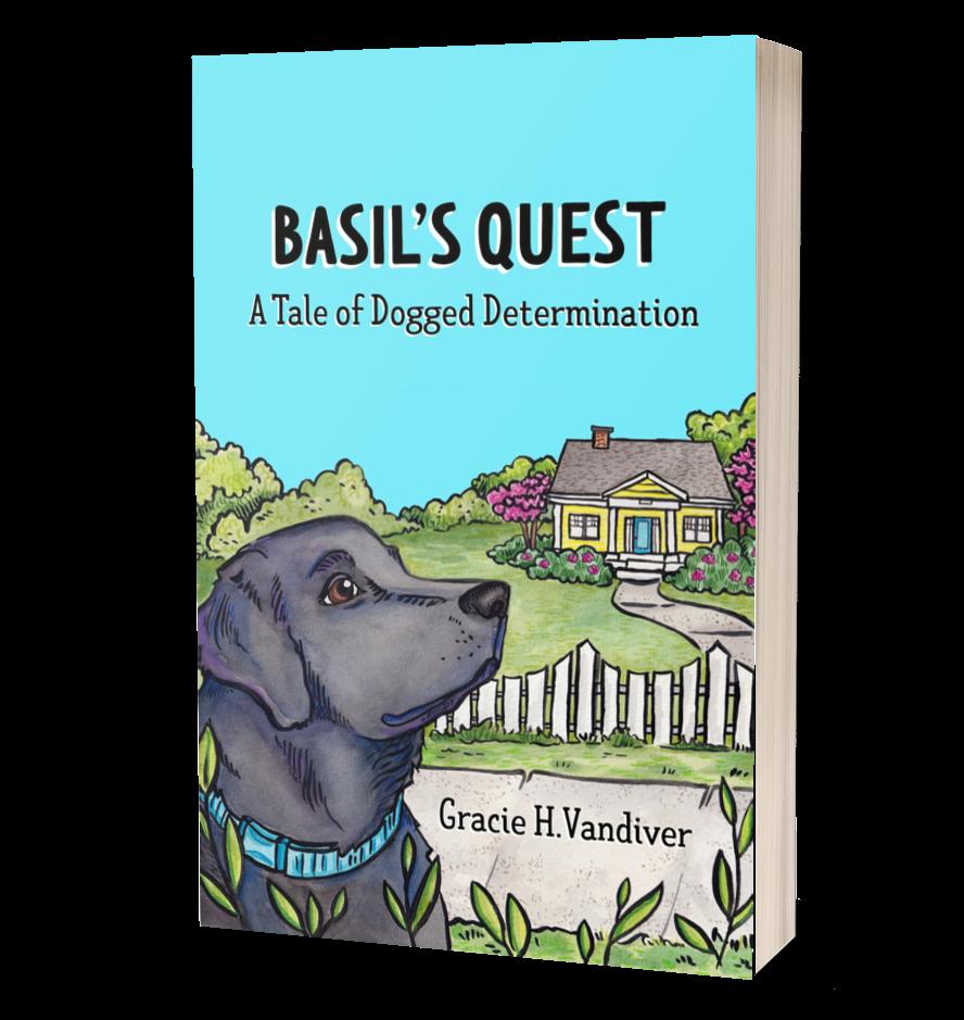Basil's Quest Cover Mockup © Gracie H Vandiver